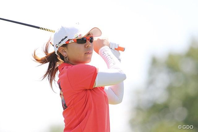 宮里美香が首位と4打差の4位に浮上した ※撮影は2015年「KPMG女子PGA選手権」