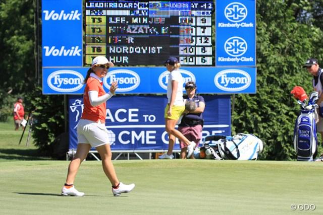 一時は首位との4打差を追いついて優勝争いを演じ、宮里美香は2位に入った