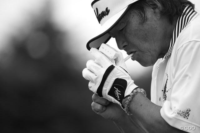 2015年 長嶋茂雄 INVITATIONAL セガサミーカップゴルフトーナメント 初日 尾崎将司 たまにはカッコいい写真もね。