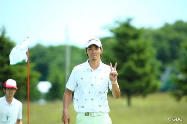 2015年 長嶋茂雄 INVITATIONAL セガサミーカップゴルフトーナメント 初日 伊佐専禄 マンデーから本戦出場おめでとう。