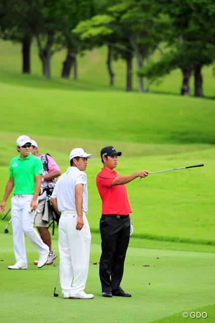 2015年 ミュゼプラチナムオープンゴルフトーナメント 最終日 薗田峻輔 9番Hのセカンドショットを池に落として万事休す。この時点では誰もキョンテの勝利を予想してませんでした。18位タイ