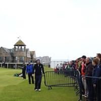 2番のティーショットを大きく右に曲げはるか右のフェンスの外。 2015年 全英オープン 最終日 ポール・ダン