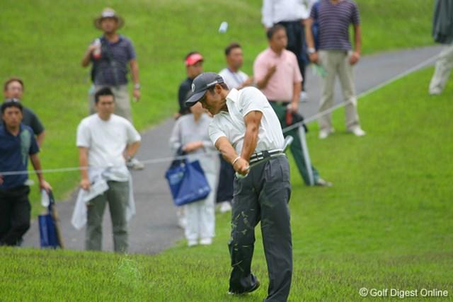 国内男子 UBS日本ゴルフツアー選手権 初日 丸山茂樹 初日は4オーバーと出遅れてしまった丸山茂樹