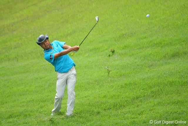 国内男子 UBS日本ゴルフツアー選手権 初日 片山晋呉 4オーバーの片山晋呉。「波に乗りにくい展開だった」