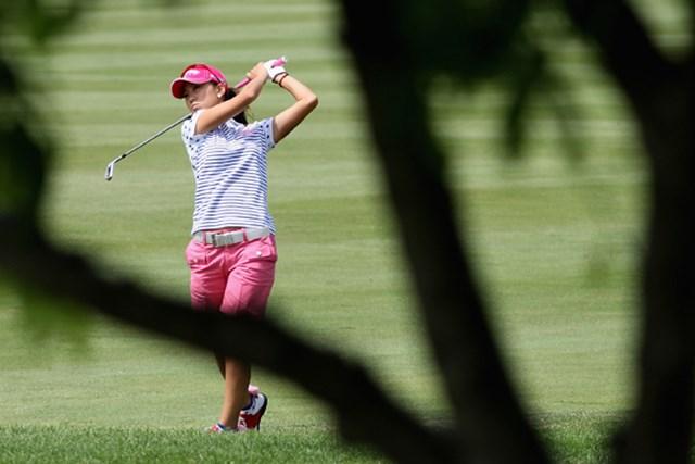 米国女子 LPGAステートファームクラシック 初日 上田桃子 ショットからアプローチ、パットまで不調が続いた上田桃子は大きく出遅れた(Christian Petersen /Getty Images)
