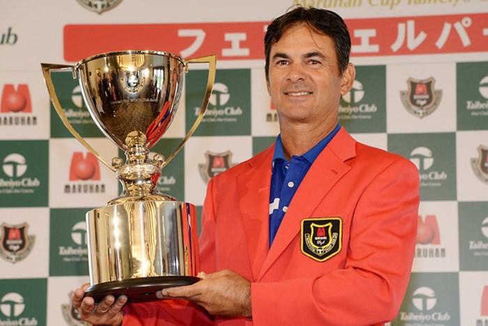 前年大会はグレゴリー・マイヤーがシニアツアー初優勝を飾った(提供:日本プロゴルフ協会) 2015年 マルハンカップ 太平洋クラブシニア 事前