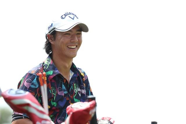 後半4番でホールインワンを記録し、笑顔を浮かべる石川遼。自身2度目の首位発進につなげた