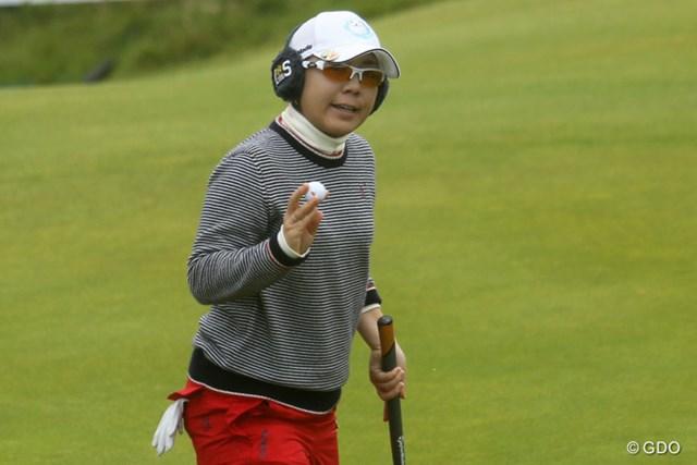 宮里美香は最終組の2つ前の組で決勝ラウンドをスタートした