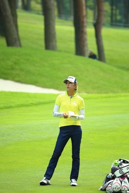 自己ベストの「63」には届かなかったが、「64」をマークして4位タイに食い込んだ金田久美子
