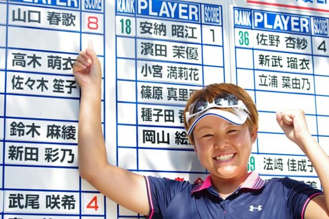 プロテストトップ合格で今大会以降の国内ツアー出場権(日本女子オープンなどを除く)を得た山口春歌