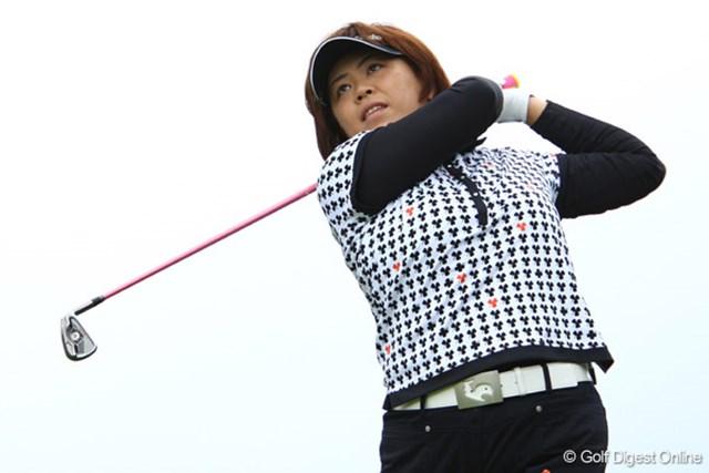 2009年 リゾートトラストレディス最終日 前田久仁子 大事故で厄払いできたのか、6試合ぶりに予選を突破し上位に入った前田久仁子
