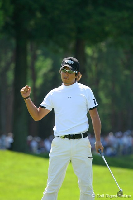UBS日本ゴルフツアー選手権 宍戸ヒルズ 最終日 矢野東 最終ホールでバーディフィニッシュの矢野東