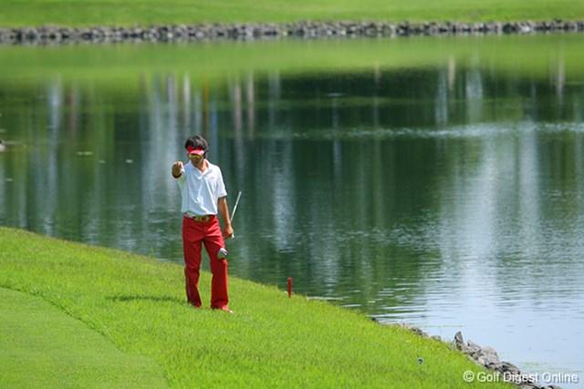 UBS日本ゴルフツアー選手権 宍戸ヒルズ 最終日 石川遼 またしても池に入れてしまった石川遼