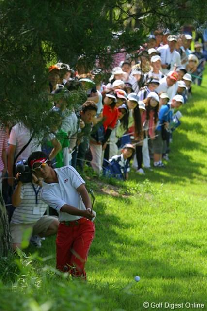 UBS日本ゴルフツアー選手権 宍戸ヒルズ 最終日 石川遼 みんな遼君に興味深々