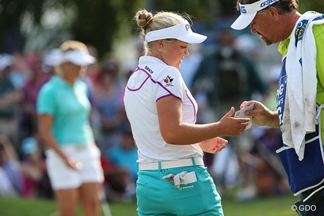 首位に立ったブルック・ヘンダーソン※撮影はKPMG女子PGA選手権