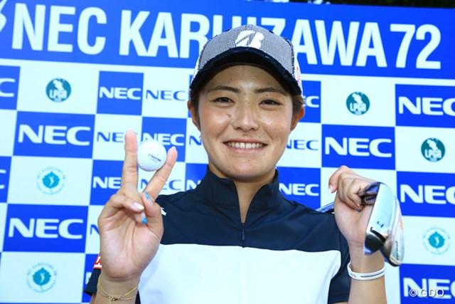 2015年 NEC軽井沢72 2日目 渡邉彩香 アルバトロスとイーグルを同一ラウンドで達成した渡邉彩香。2341年に1度の快挙?