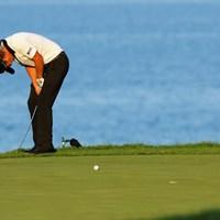首位のデイと同じオーストラリア出身。3日目はデイと同じ最終組でプレーしたが、1オーバーと後退 2015年 全米プロゴルフ選手権 3日目 マット・ジョーンズ