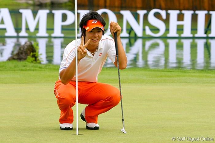 人生初のホールインワンに、思わずカメラマンにピース! 2009年 日本プロゴルフ選手権 事前情報 石川遼