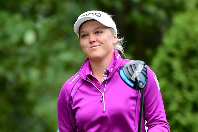 前週、LPGAツアー初優勝を飾ったブルック・ヘンダーソンは、地元大会でかろうじて予選突破(Harry How/Getty Images)