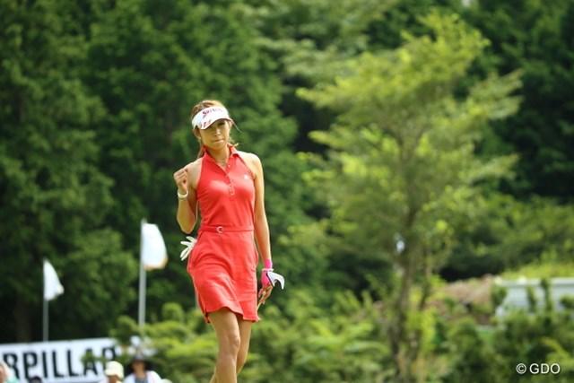最終日に一時優勝争いに加わった金田久美子。目標はさらに上に