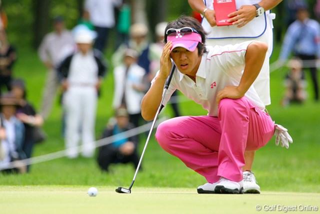 2009年 日本プロゴルフ選手権 第1ラウンド 石川遼 パットはショートが多く、バーディチャンスをことごとく逃した