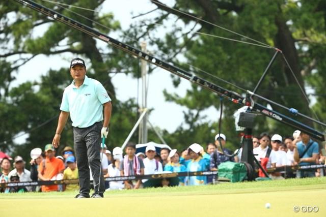 2015年 RIZAP KBCオーガスタゴルフトーナメント 最終日 小田孔明 中盤に池田勇太に並んだ小田孔明だったが、再三のバーディチャンスを生かせなかった