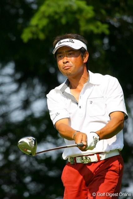 2009年 日本プロゴルフ選手権 第1ラウンド 五十嵐雄二 前週のメジャー初戦「UBSツアー日本ゴルフツアー選手権」で初優勝を果たした五十嵐雄二は54位タイ発進