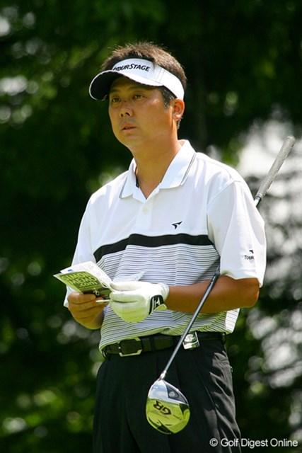 2009年 日本プロゴルフ選手権 第1ラウンド 野仲茂 久々に上位に名を連ねた野仲茂。首位を1打差で追う