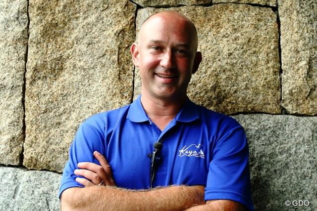 2015年 RIZAP KBCオーガスタゴルフトーナメント 最終日 アンドリュー・マクダニエルさん 芥屋GCのグリーンキーパーのマクダニエルさん。熱戦の裏にいる仕事人だ