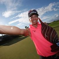 クリス・タムリスが逆転でツアー初優勝を飾ったクリス・タムリス(Todd Warshaw/Getty Images) 2015年 ヨコハマタイヤLPGAクラシック 最終日 クリス・タムリス