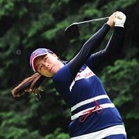 父の影響でゴルフを始めたという青木元美。1年足らずのうちにゴルフで高校進学を決めたという 2015年 ゴルフ5レディス 初日 青木元美