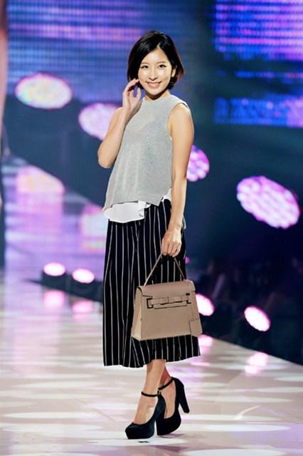 2015年 ワンライフモデルオーディション 藤田美里 初めてのファッションショーデビューを果たした藤田美里(提供:神戸コレクション2015)