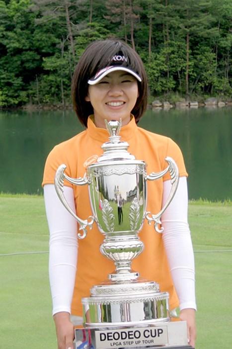 プロ8年目で嬉しいツアー初優勝を飾った西川藍 2009年ステップアップツアー デオデオカップ 西川藍