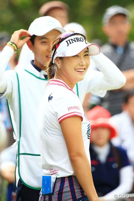 2015年 日本女子プロ選手権コニカミノルタ杯 3日目 キム・ハヌル こちらも美人さんですね 2アンダー7位タイ