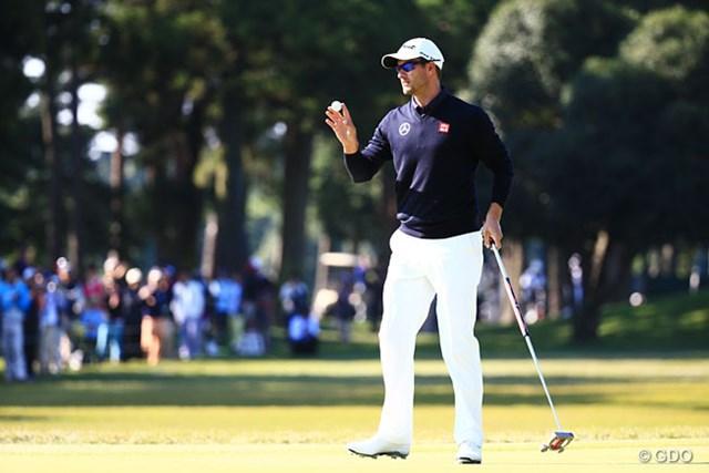 2015年 日本オープンゴルフ選手権競技 事前 アダム・スコット アダム・スコットが「日本オープン」に2年連続出場が決まった