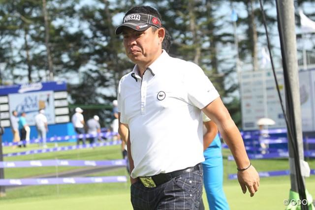 2015年 ANAオープンゴルフトーナメント 事前 平塚哲二 左ひじのケガから復帰し、約1年ぶりの出場となる平塚哲二