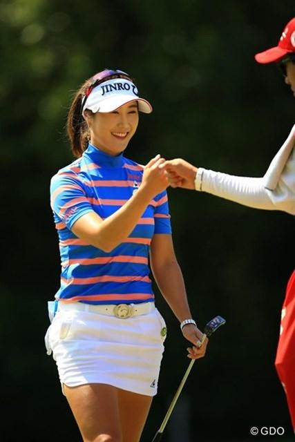 バックナインでいきなりアクセル全開!日本ツアー初優勝です。やはり韓国の賞金女王は伊達じゃないですね。