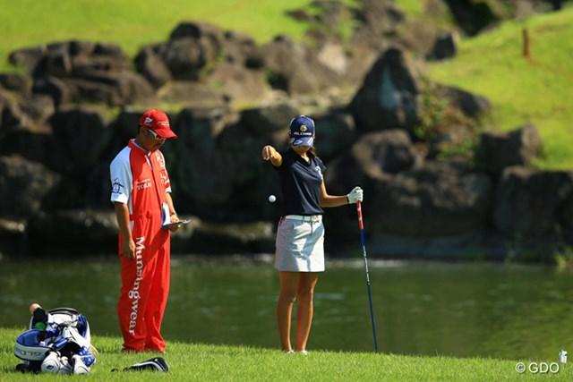 松森彩夏 終盤で池に入れ、初優勝を逃した松森彩夏。世界ランクは155位とした
