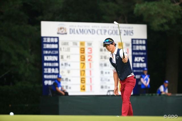 2015年 アジアパシフィック ダイヤモンドカップゴルフ 初日 石川遼 15番、きましたバーディ