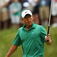 次代のスター候補、A.キムはメジャーでも存在感を発揮。暫定ながら12位タイで首位を追う(Chris McGrath /Getty Images) 2009 全米オープン 2日目 アンソニー・キム