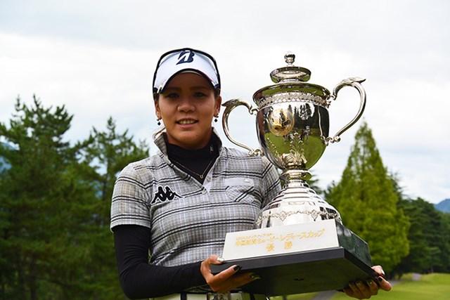 2015年 中国新聞ちゅーピーレディースカップ 最終日 城間絵梨 城間絵梨がステップアップツアー初優勝を遂げた※日本女子プロゴルフ協会提供