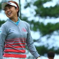 ファンが多いのも納得がいきます 2015年 ミヤギテレビ杯ダンロップ女子オープン 初日 岡村咲