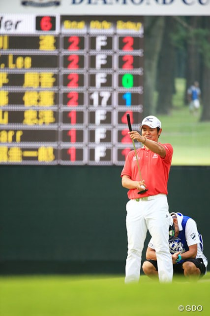 2015年 アジアパシフィック ダイヤモンドカップゴルフ 3日目 武藤俊憲 ちょっと笑っちゃってるライン読み