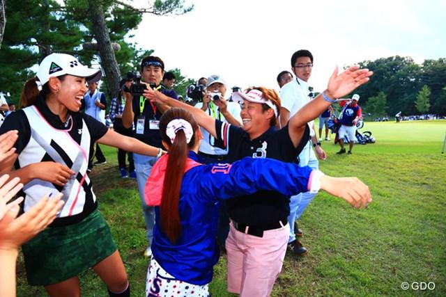 2015年 ミヤギテレビ杯ダンロップ女子オープン 最終日 表純子 私優勝しましたーーーー!!
