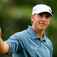ツアー未勝利の28歳、R.バーンズが首位のまま最終ラウンドへ!(Sam Greenwood /Getty Images) 2009年 全米オープン 最終日 リッキー・バーンズ