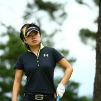 ゴルファーっぽくない髪 2015年 日本女子オープンゴルフ選手権競技 初日 篠原真里亜