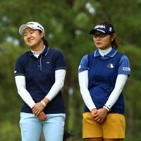 どうやらボケ担当は藤田らしい 2015年 日本女子オープンゴルフ選手権競技 初日 前田陽子 藤田幸希