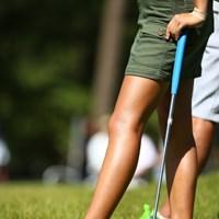 日焼けしてる健康的な脚って素敵。 2015年 日本女子オープンゴルフ選手権競技 2日目 木戸愛