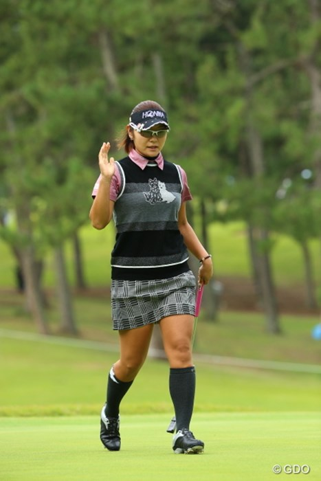 TODAY-3は本日イチの記録だ。 2015年 日本女子オープンゴルフ選手権競技 2日目 藤田幸希