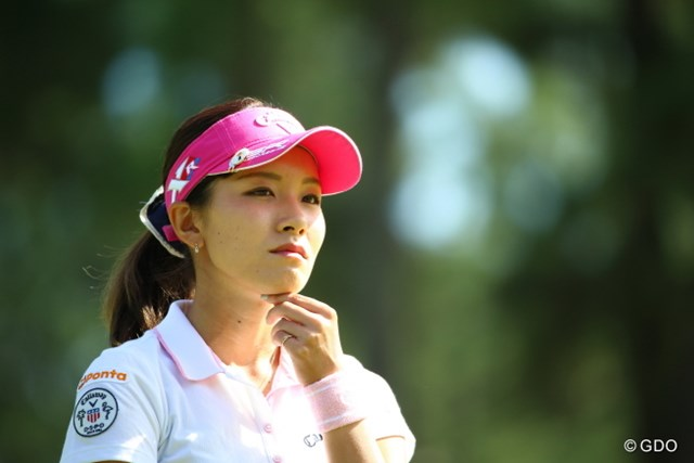 2015年 日本女子オープンゴルフ選手権競技 2日目 藤田光里 うーん